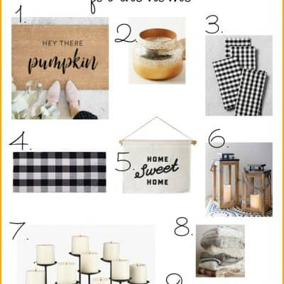Favorite Fall Things For the Home