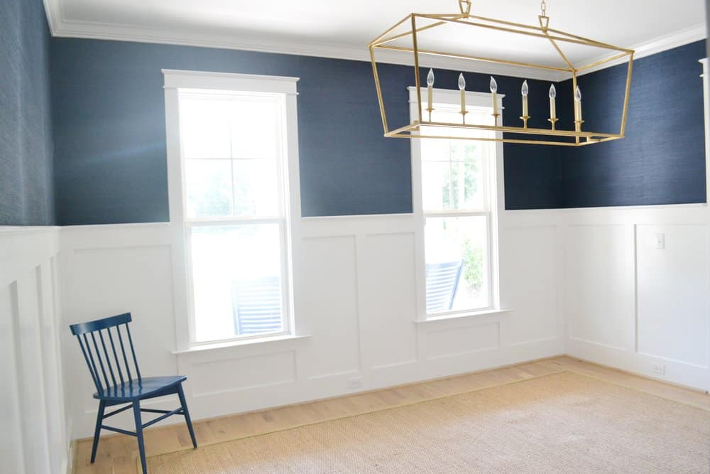 Grasscloth Wallpaper In The Dining Room Chrissy Marie Blog