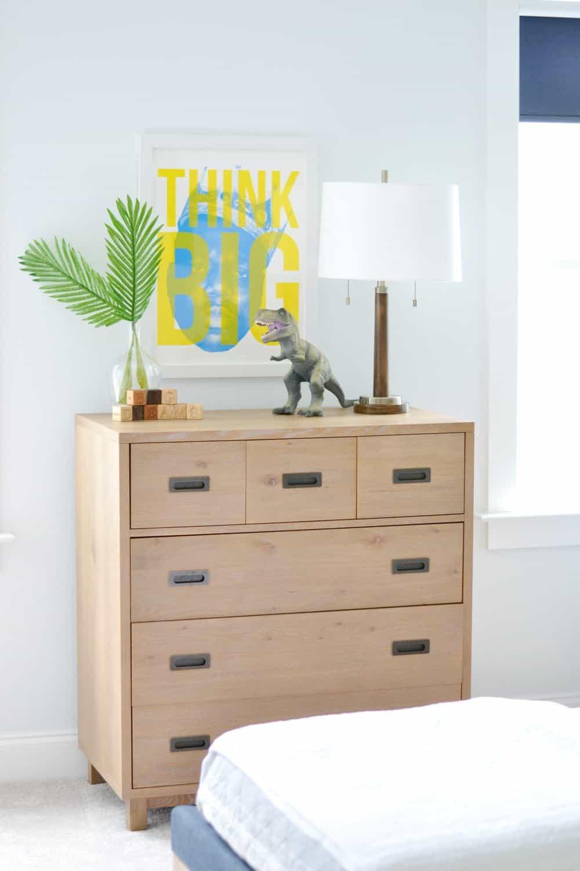 dresser in boys room