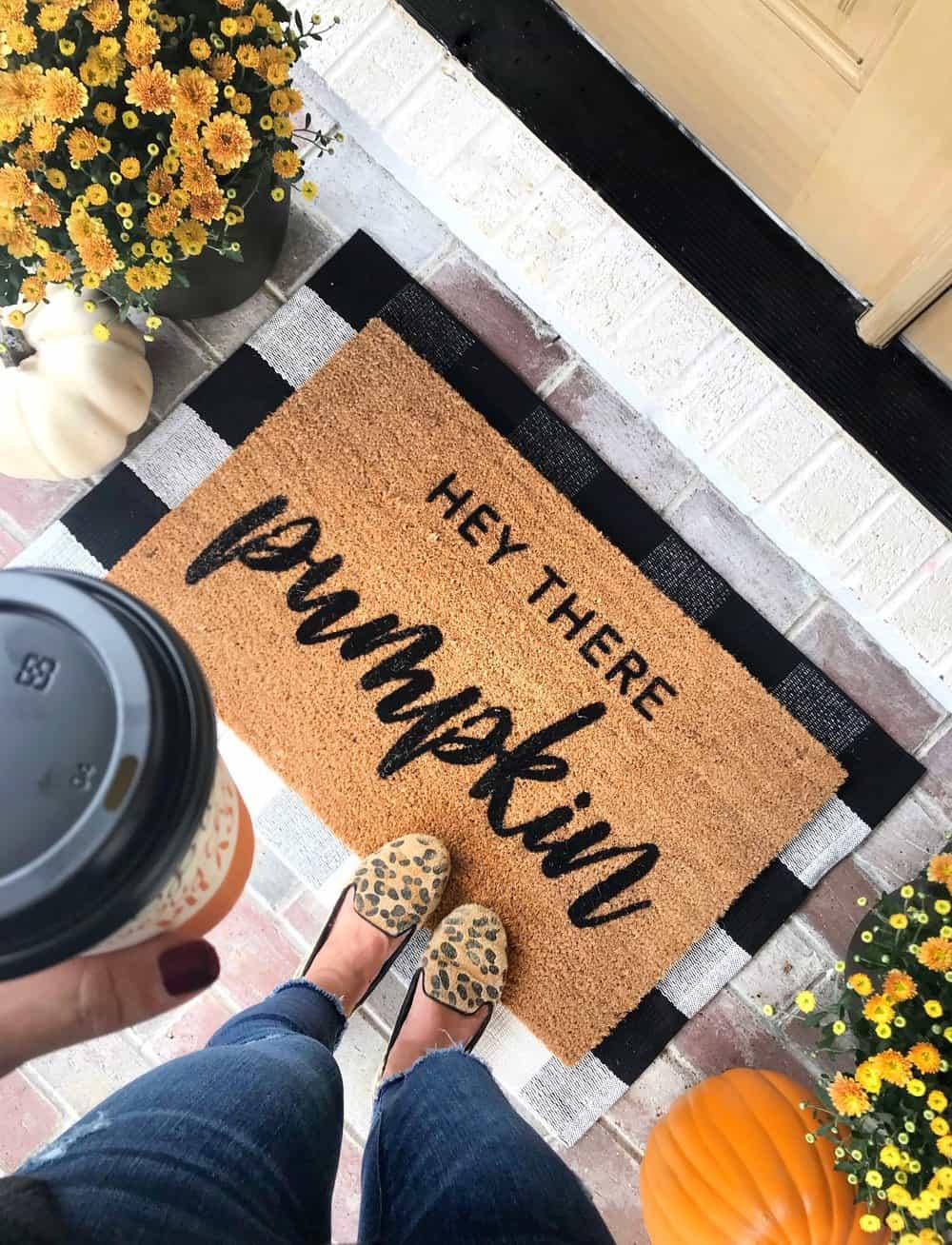 fall front porch doormat