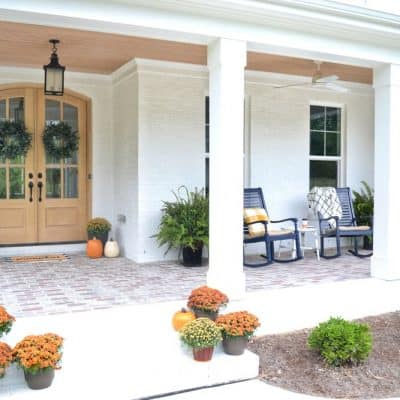 6 Tricks For A Pretty Fall Porch On A Budget