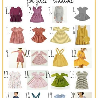 20 Best Fall Swing Dresses For Girls + Toddlers