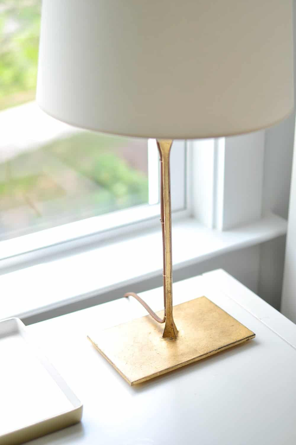 small brass dauphine lamp