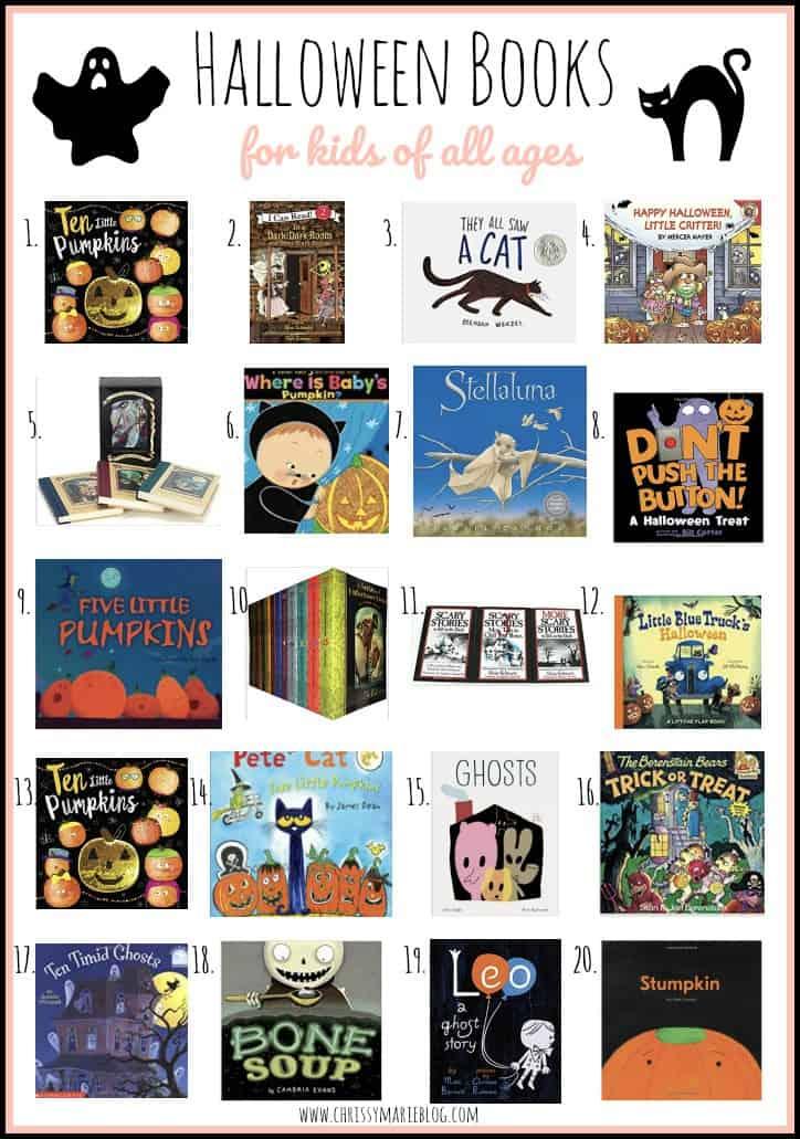 Pinterest image of halloween books