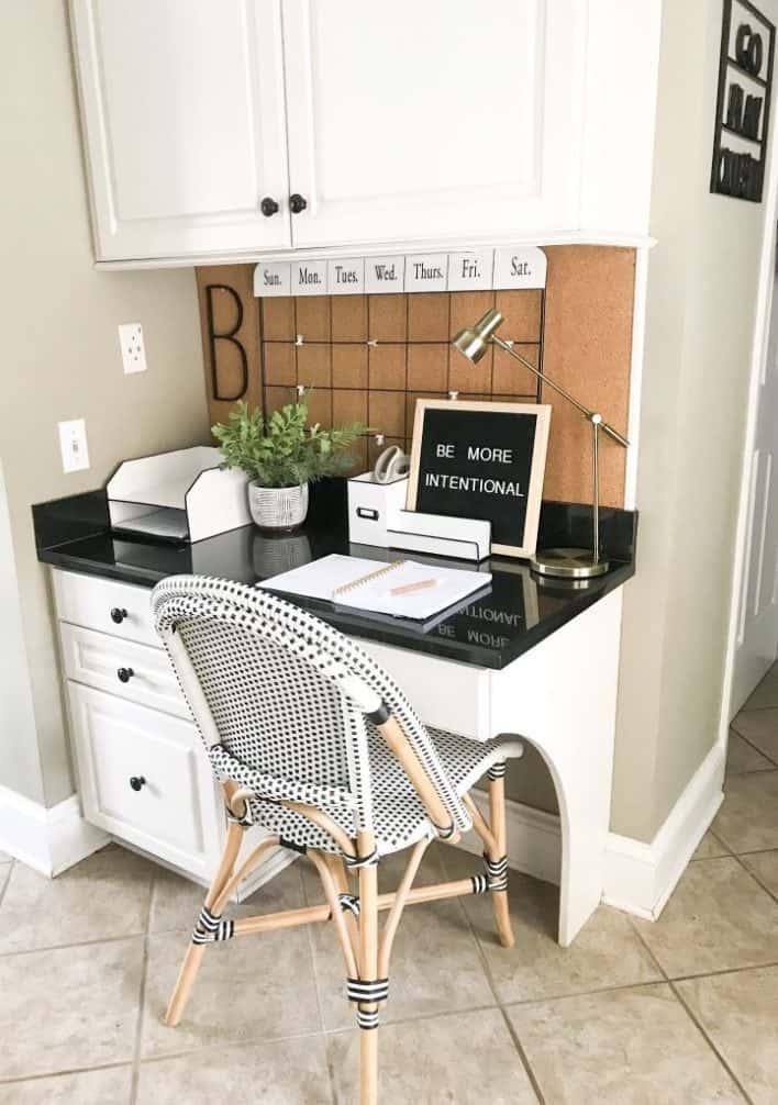 Organized Kitchen Desk, Are Kitchen Desks Out Of Style