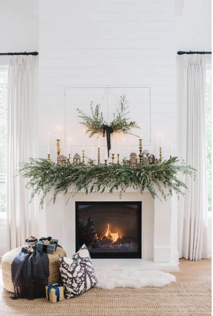 galrand ove fireplace in Monika Hibbs home