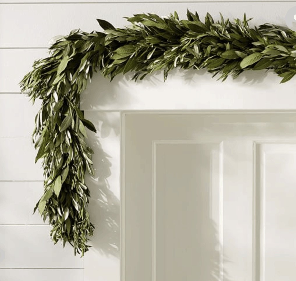 the best faux garlands made of olive and myrtle