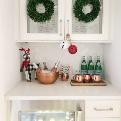 Styling Guide: Creating a Bar Area At The Holidays + Beyond, and Some Fun Wall Decals