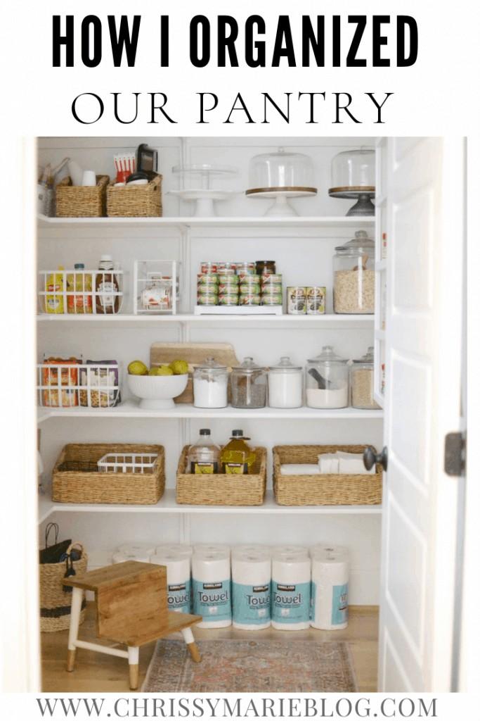 Pinterest image for Organized Pantry