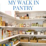 pinterest image with text reading pantry organization