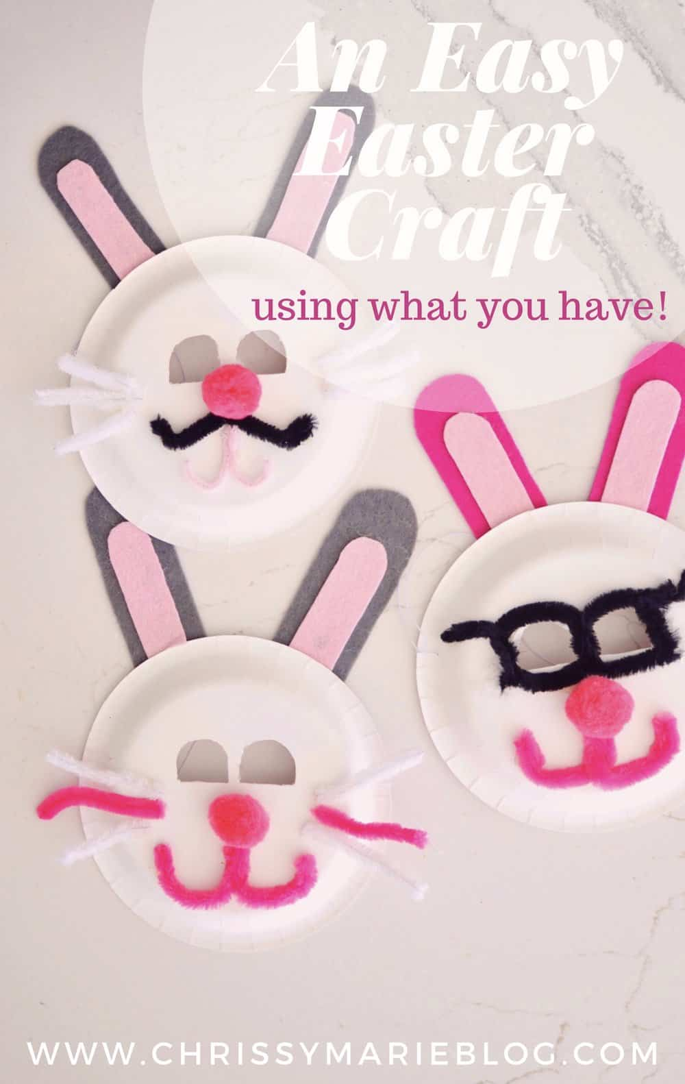 easter bunny masks pinterest image with text
