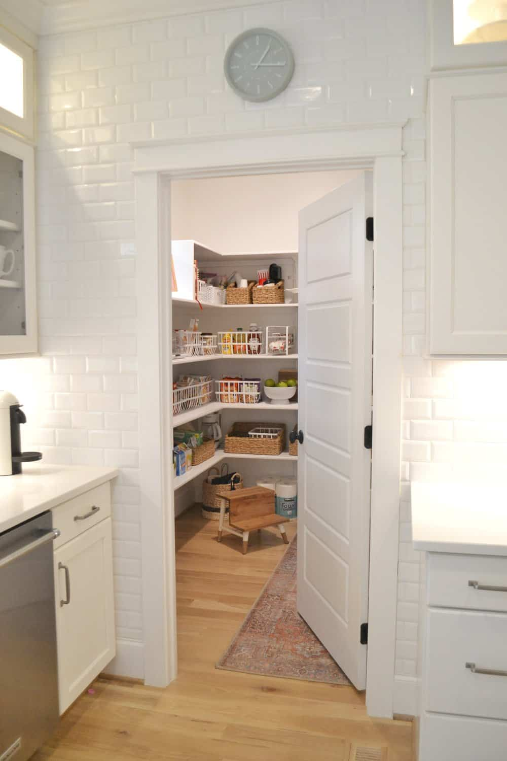 walk in pantry organized