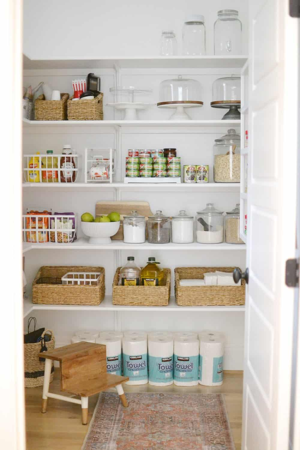 clean pantry door open