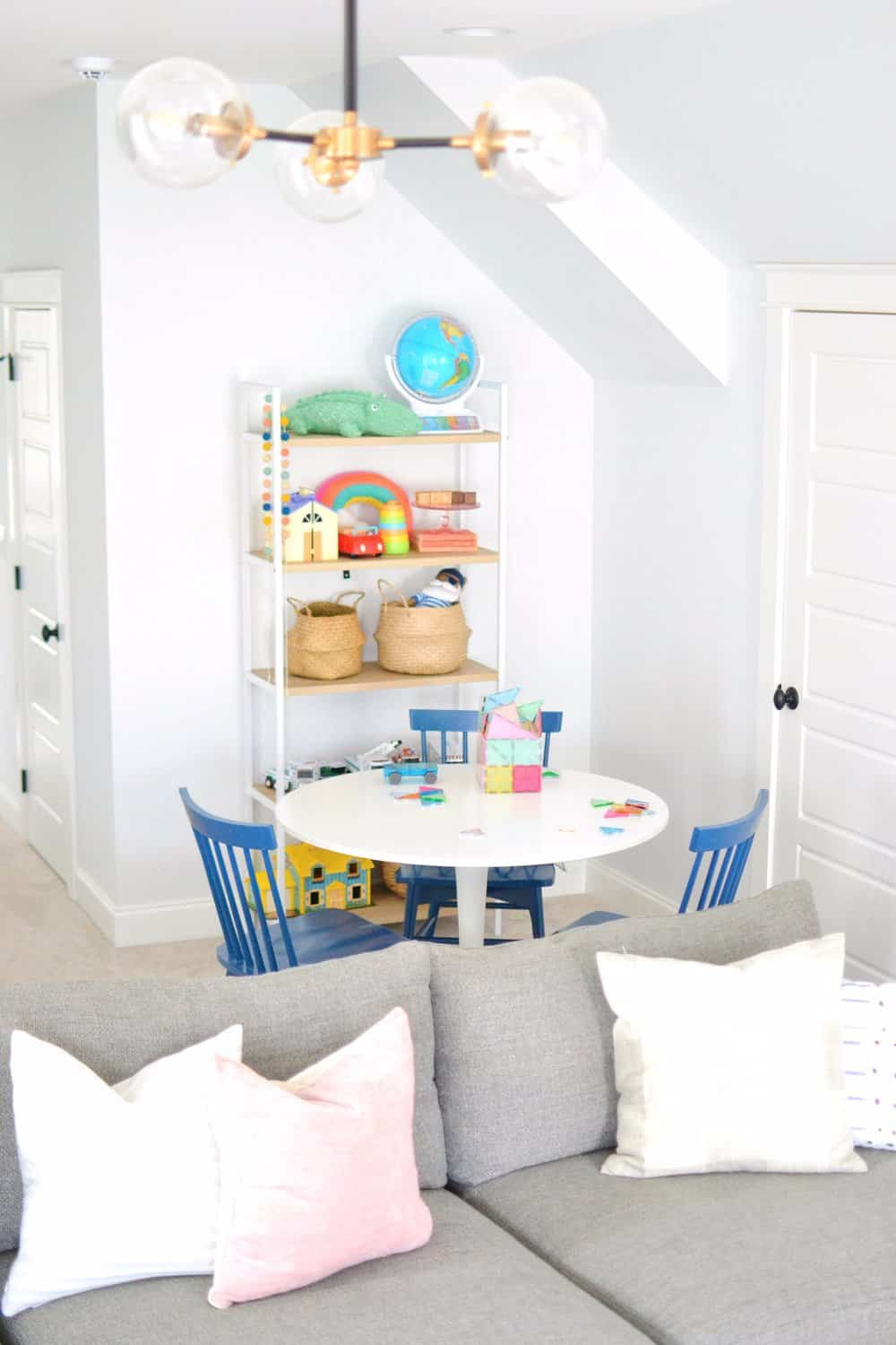 craft table in playroom