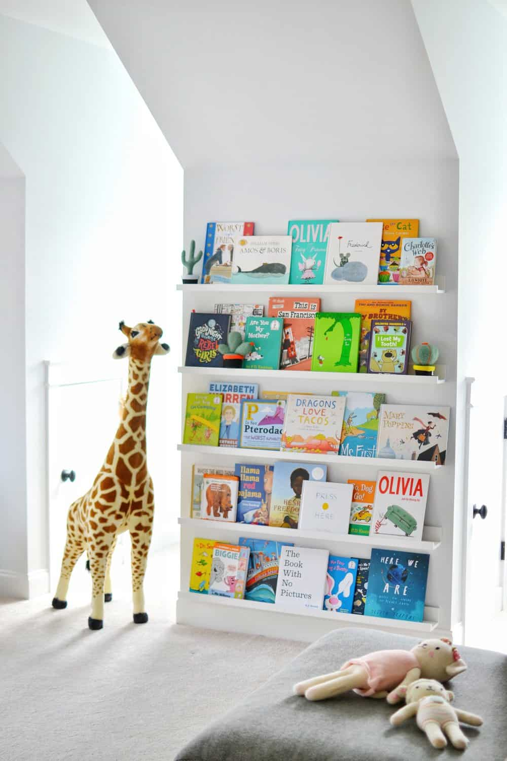 bookshelves for kids in our playroom for toddlers and teens