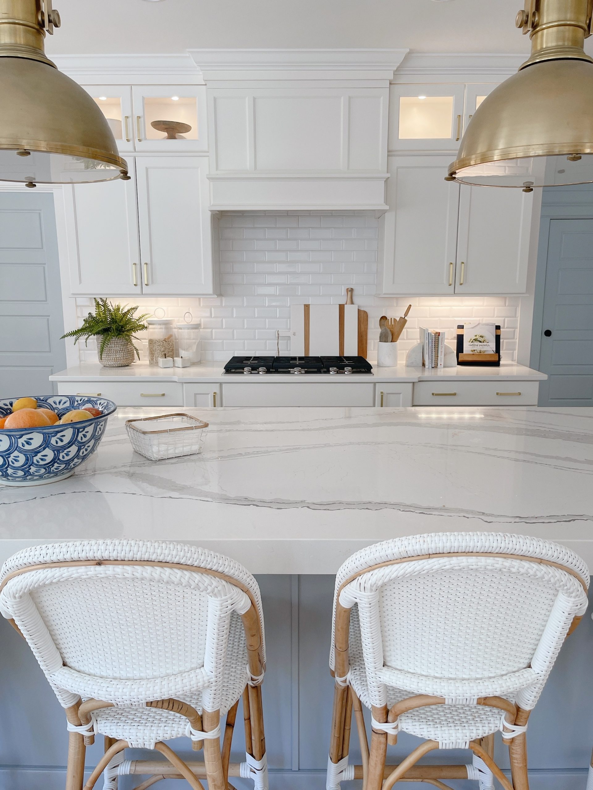 Our White Kitchen Blue Island Details Chrissy Marie Blog