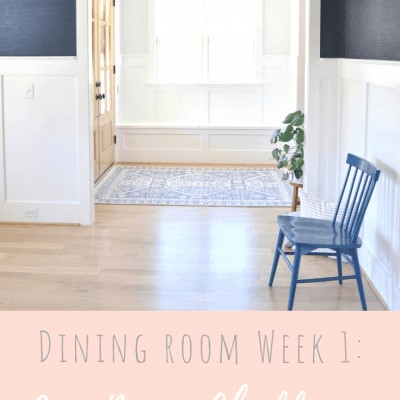One Room Challenge: Week 1 The Dining Room Before