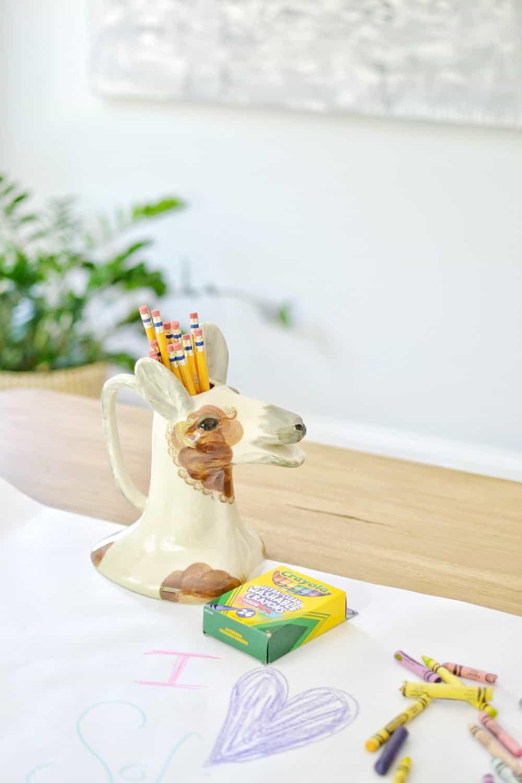 Steven shell living pencil holder shaped like a deer