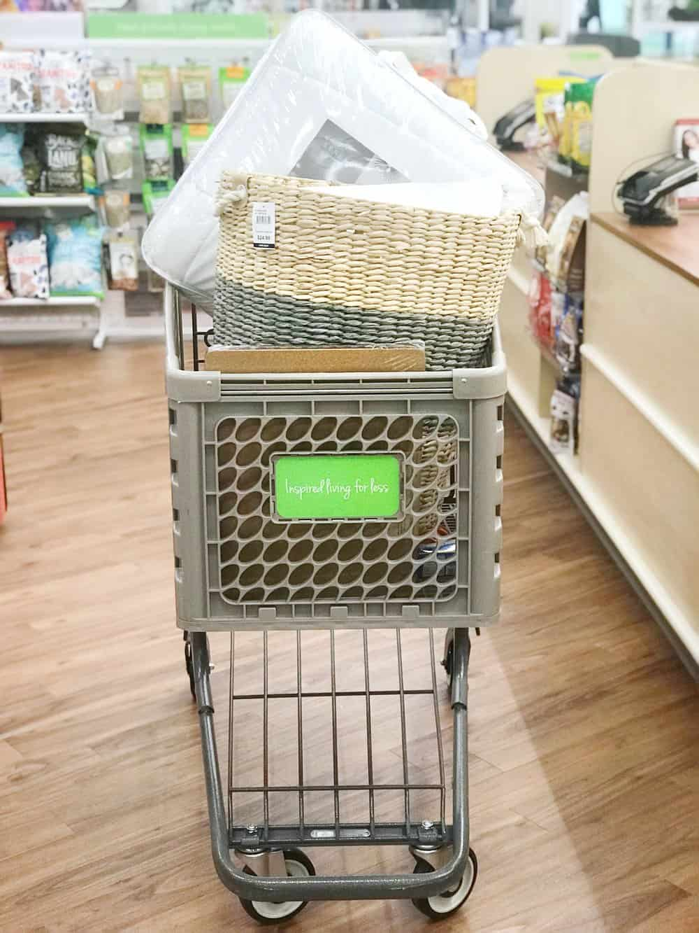 shopping cart filled with items inside Home Centric
