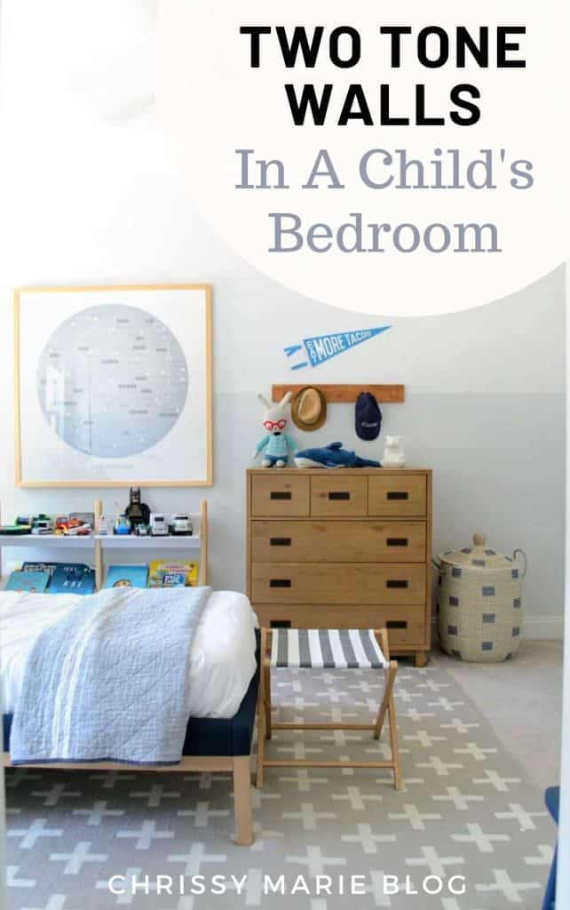 pinterest image that says two toned walls