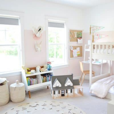 The Girls' Shared Bedroom + Bunk Beds