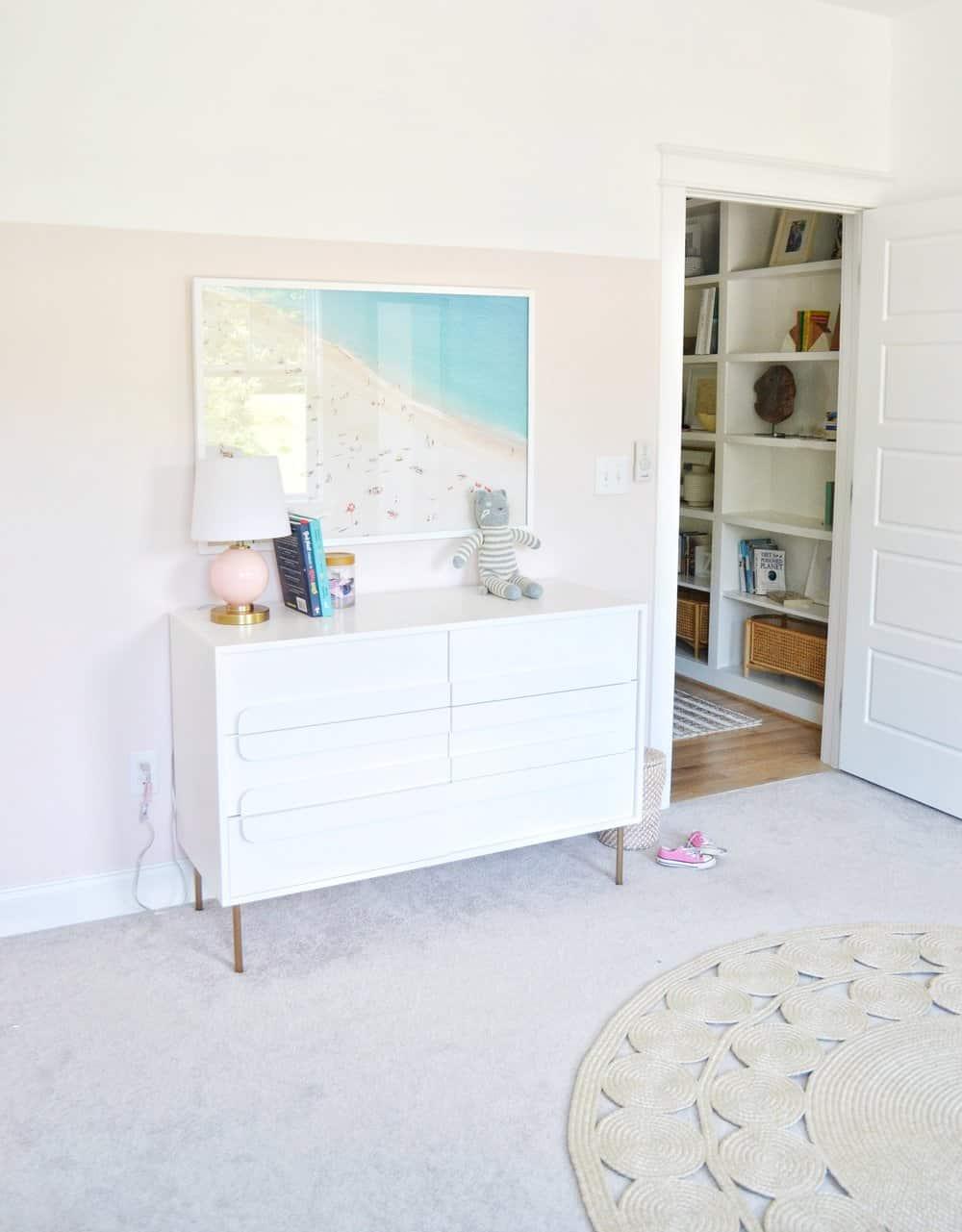 Gemini Dresser in the girls shared bedroom