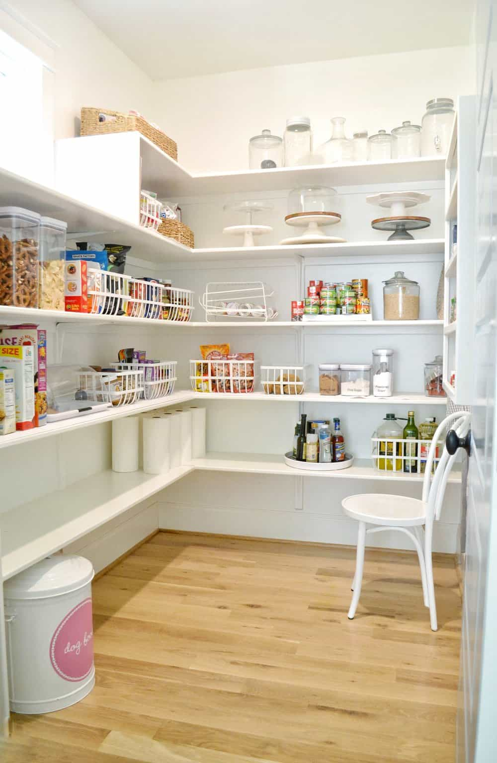 clean organized pantry for back to school