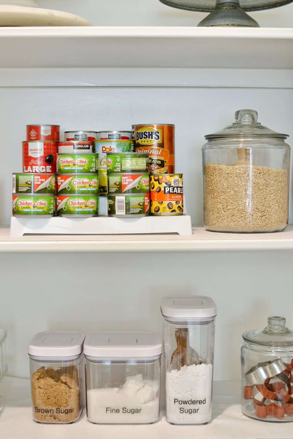 labeled jar in the pantry - organize your home for back to school