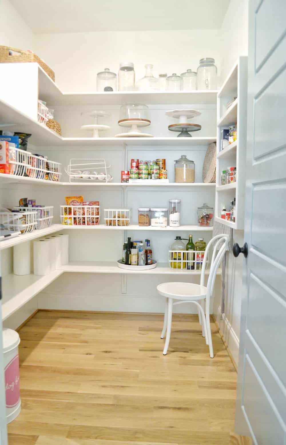 clean organized functional pantry
