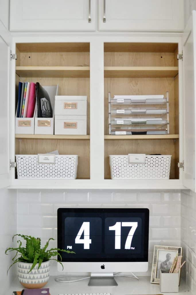 Homework station organize home for back to school with labels
