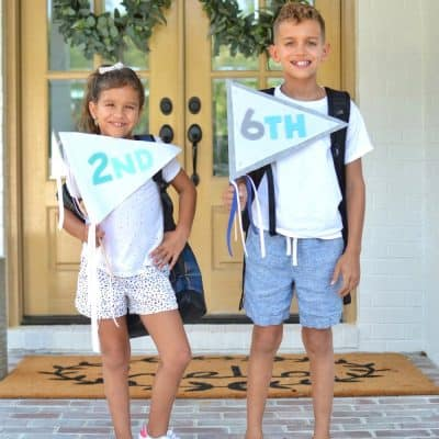 DIY First Day of School Pennants