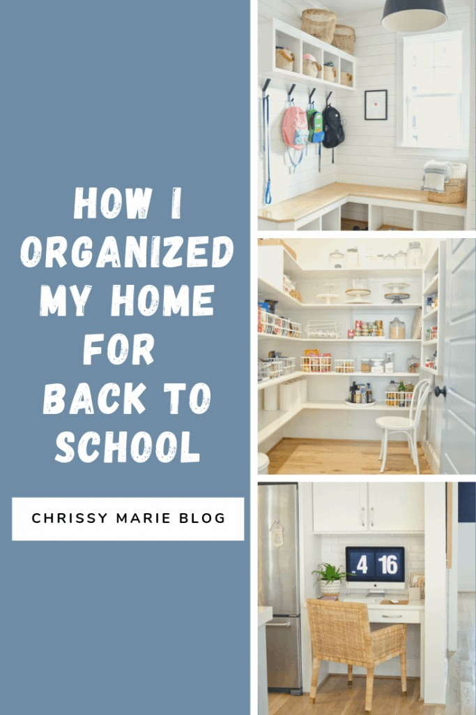 Pinterest image for getting organized when kids are back to school