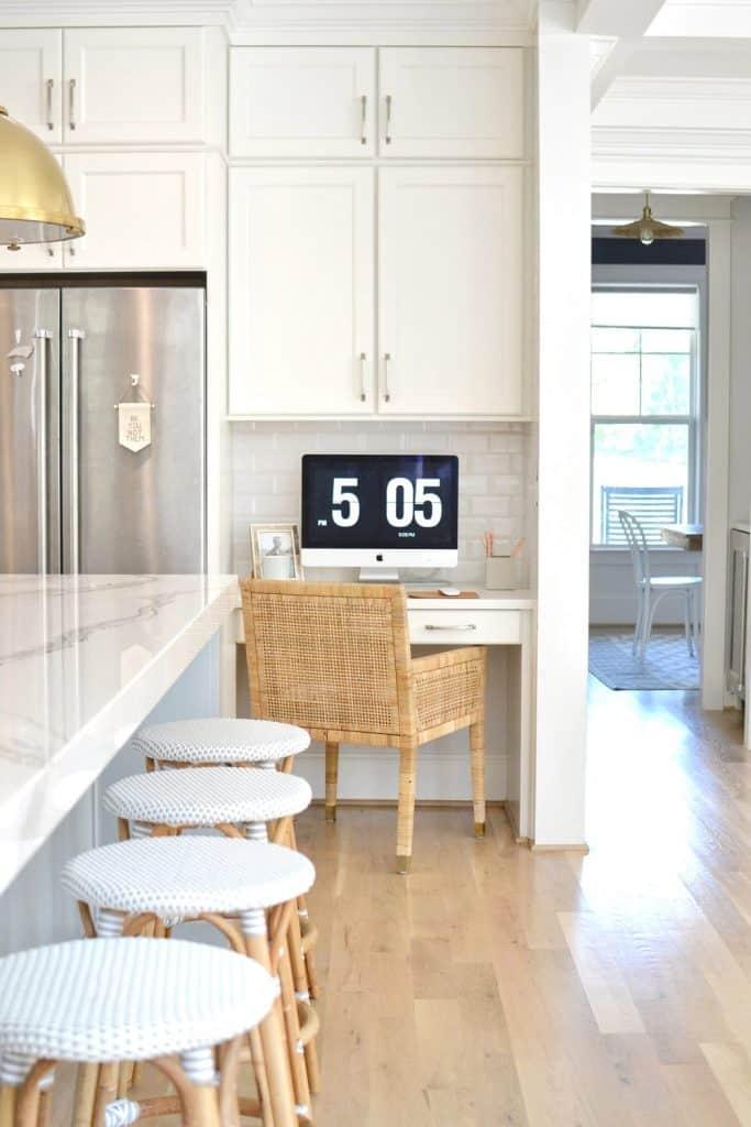 kitchen desk in kitchen