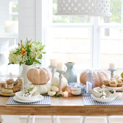 A Pumpkin Tablescape For Fall Entertaining
