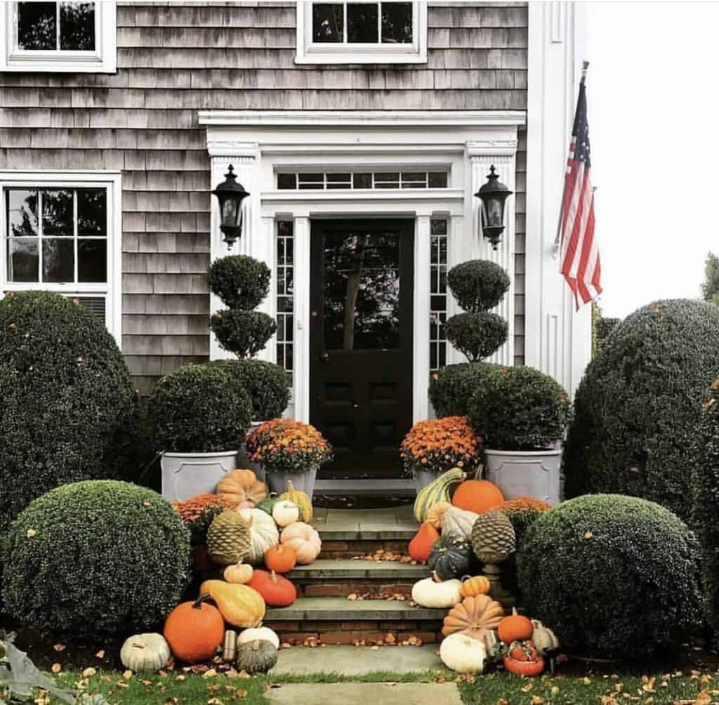 fall front porch New England