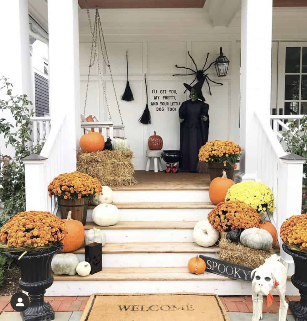 halloween and fall porch on instagram