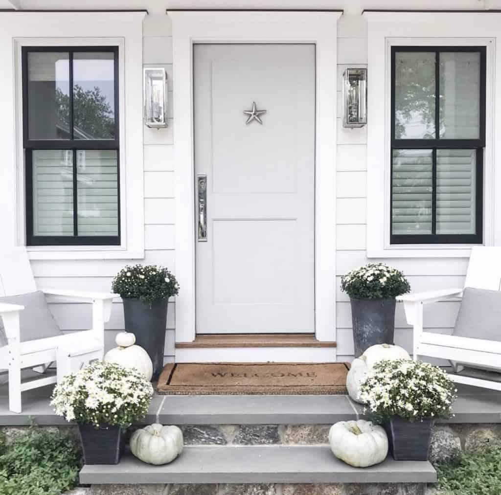 fall porch decor on instagram