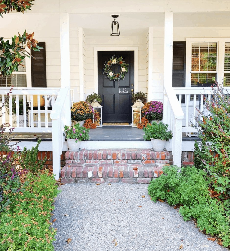 beautiful fall porch on instagram