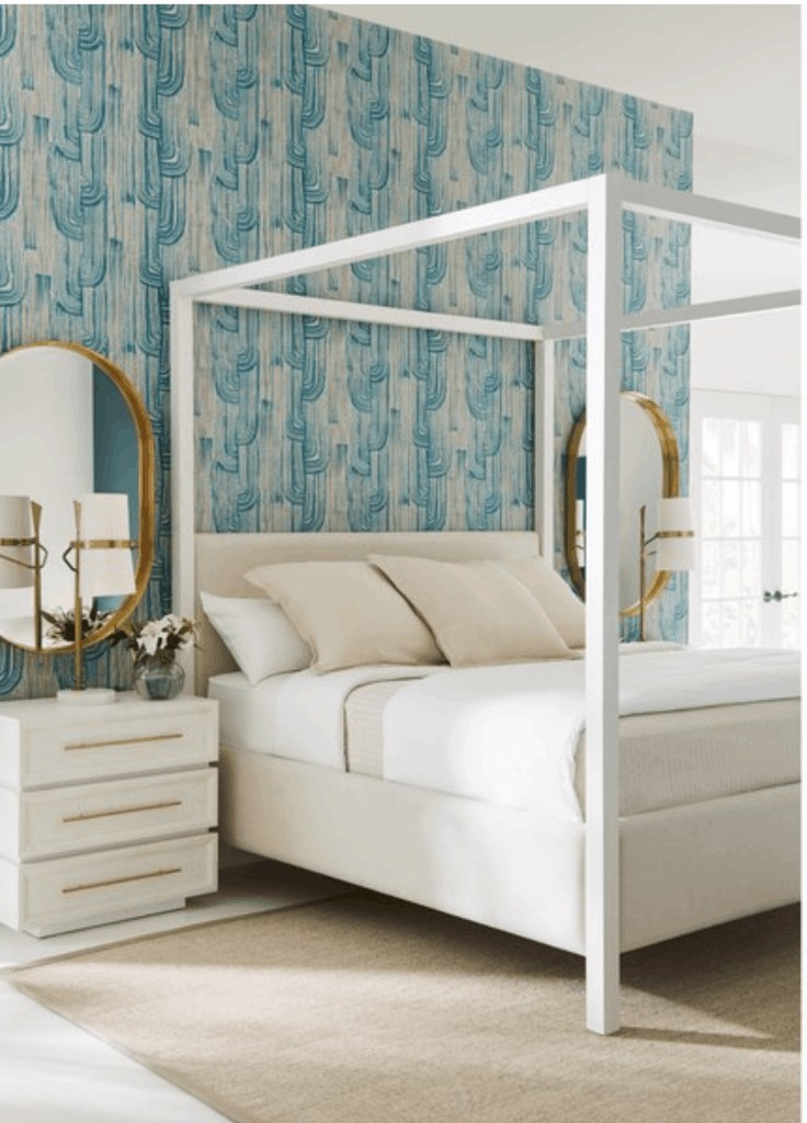 white canopy bed from Houzz