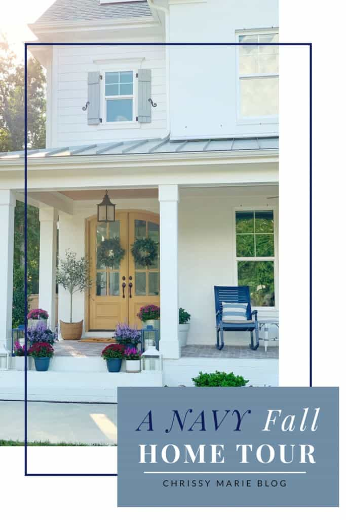 A Navy Fall Home Tour Pinterest Image