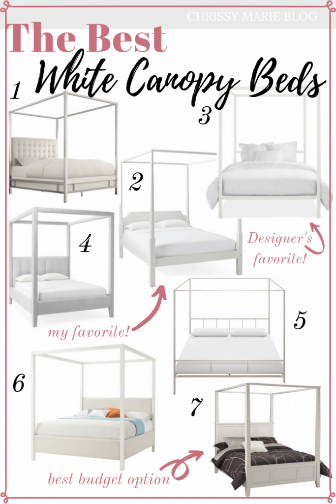 Pinterest Image for White Canopy Bed Roundup