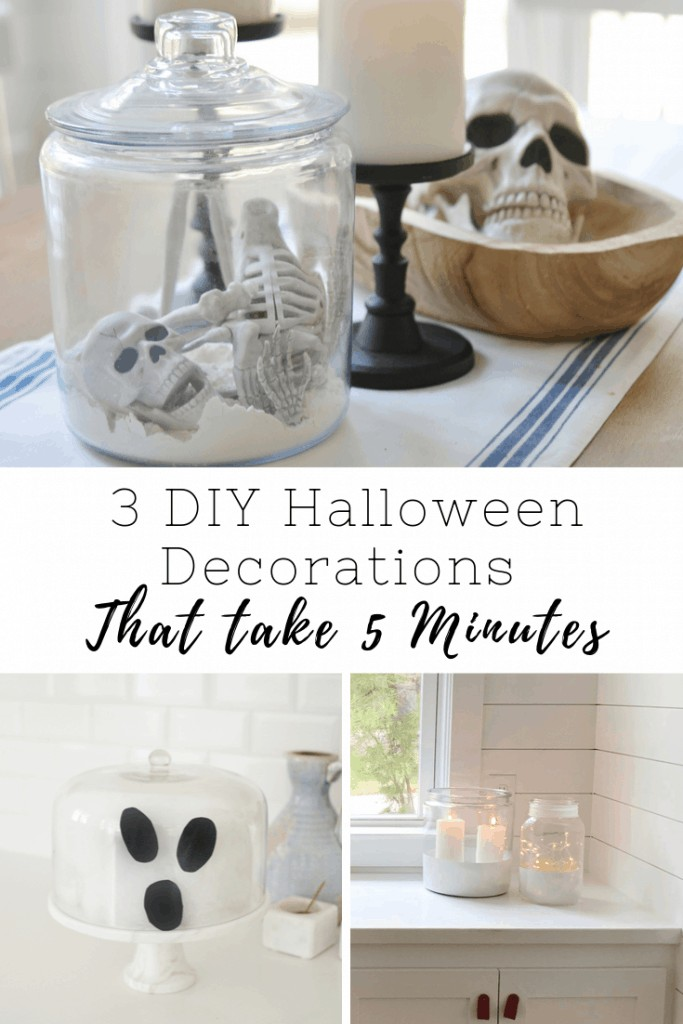 Pinterest image that says DIY Halloween Decorations crafts for kids