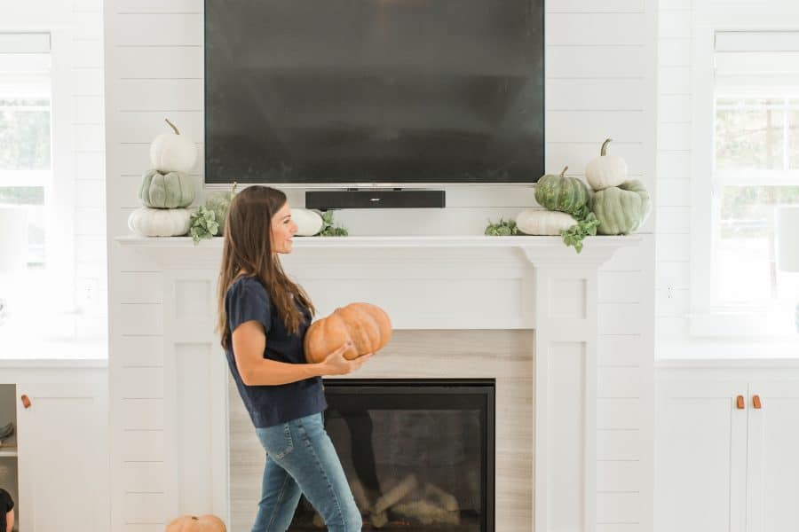 Decorate A Mantel With A TV Above It