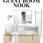 Pinterest Image That Says Guest Bedroom Nook