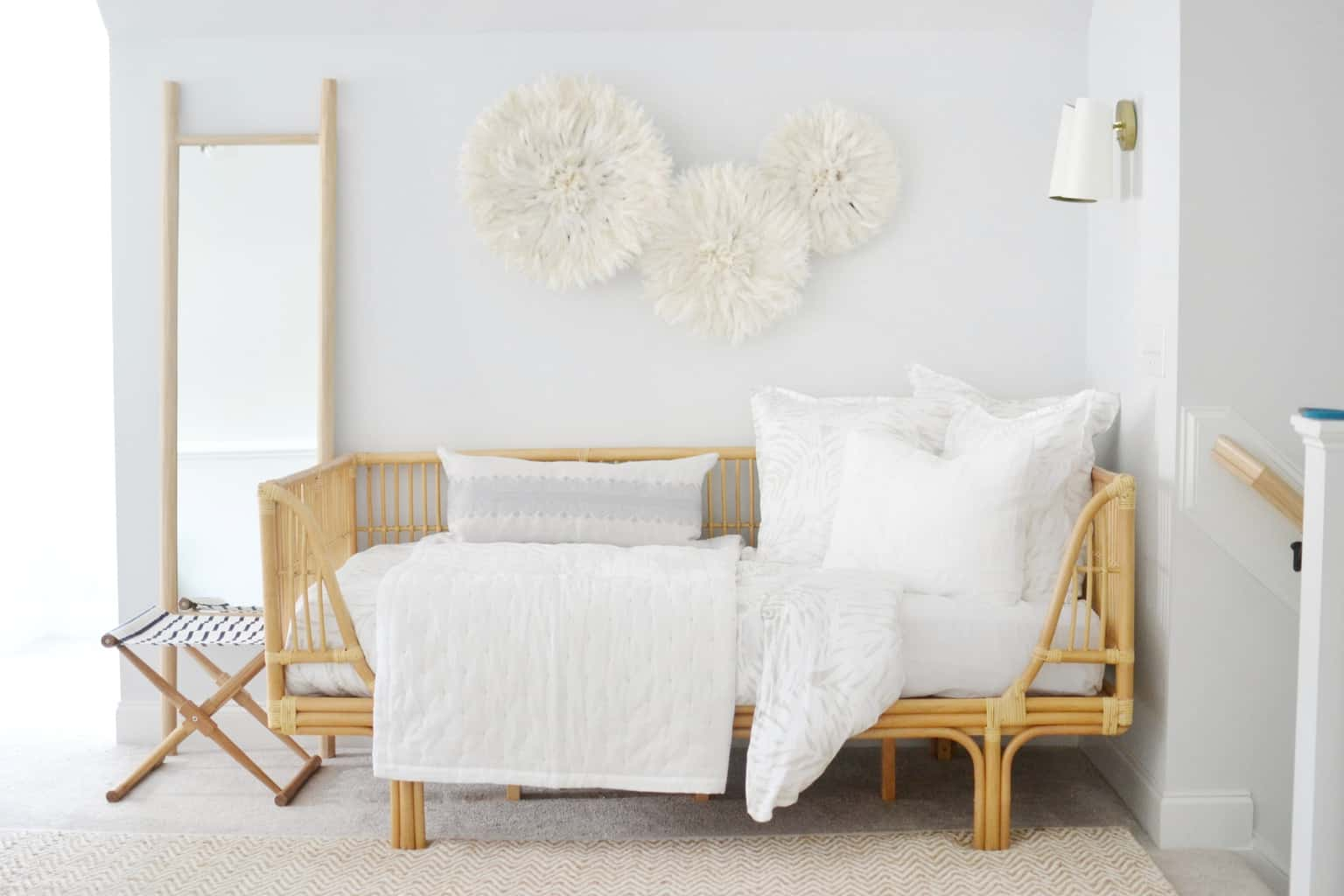twin bed in a guest room