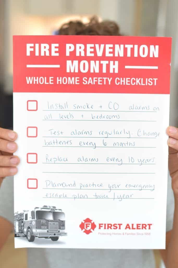 "a sigh that says ""create a fire safety plan"""