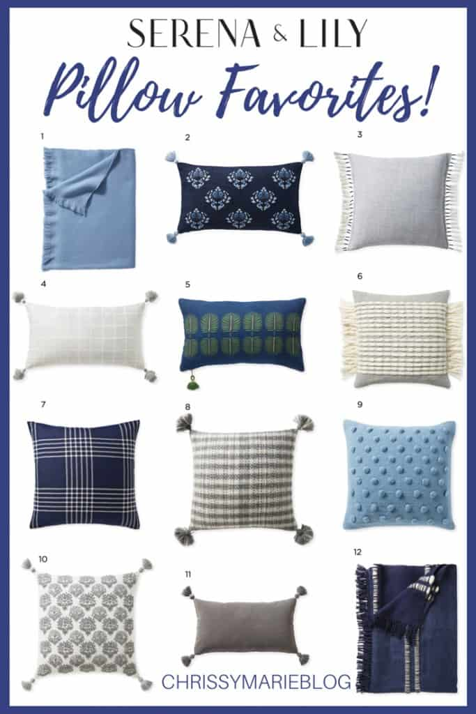 Pinterest Image of Serena & Lily Pillows Review