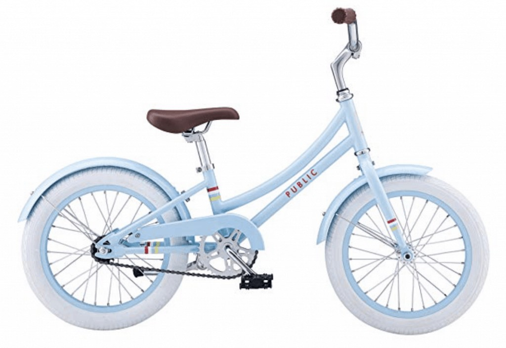 a christmas gift for kids, a blue Beach cruiser bike