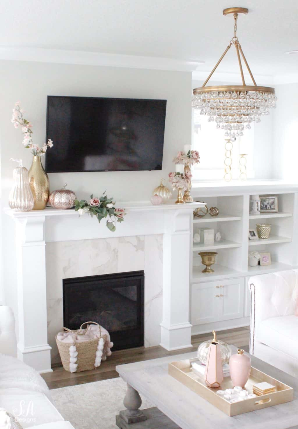 Mantel Decor With A Tv 6 Ways To Pull It Off Chrissy Marie Blog