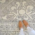 feet on the mirabelle rug